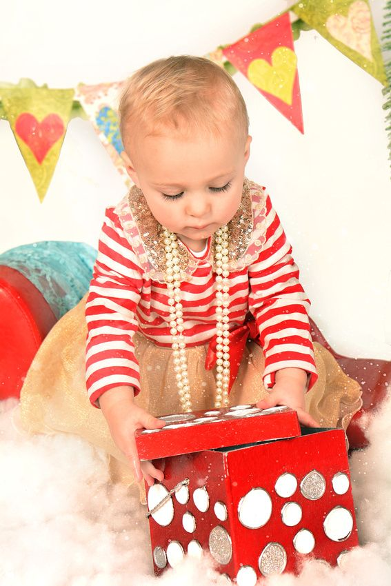 The joy and mystery about presents is so alluring to little ones!
