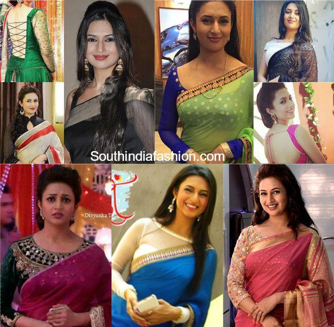 Divyanka Tripathi (Ishita) Saree Blouse Designs in Yeh Hai Mohabbatein
