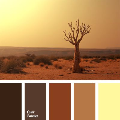 Scorched desert colors combined with clay shades of the Grand Canyon will grant any interior the warm notes of all shades of brown. Brown scale with addition of ochre will emphasize royal luxury of the chocolate mood and make accents using depth of the selected shades.