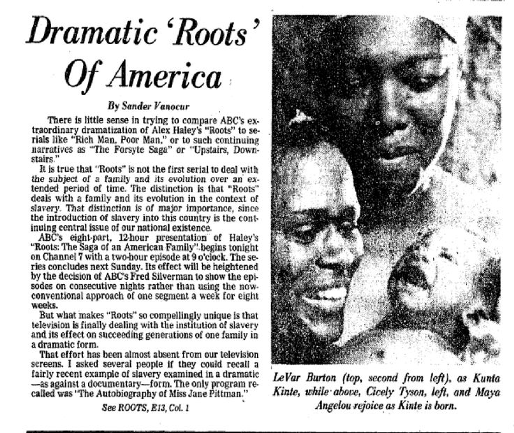 "A look at The Post's coverage of the original ""Roots"" miniseries."