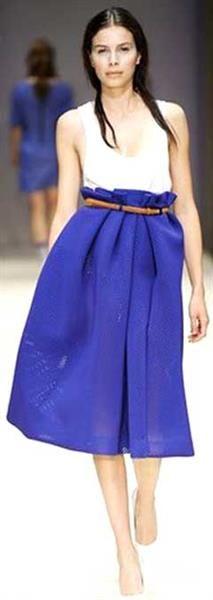 Летняя юбка цвета электрик