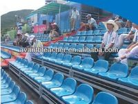 Metal stadium seats for bleachers chairs with backs