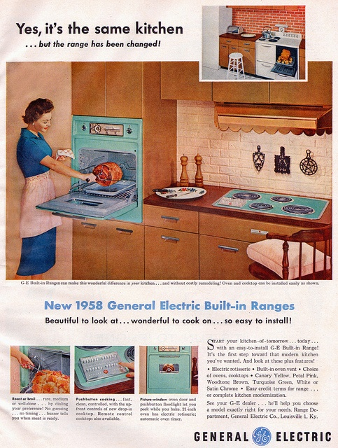 GE Kitchen Appliances @ 1958.