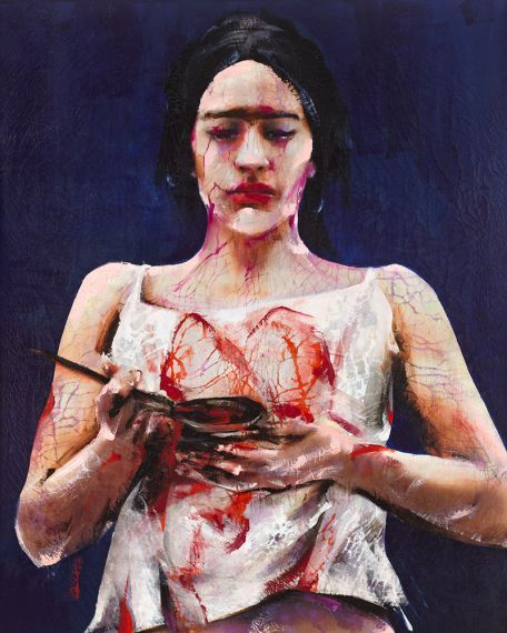 The Spanish Lita Cabellut was born on 1961 in Barcelona, where she grew up in a poor Gypsy-environment.