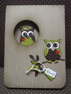 Owl punch circle punch and wood grain background stamp all available to order online 24/7 at Juliekostka.stampinup.net