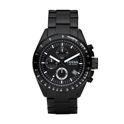 Montre Fossil homme chronographe acier noir 119€