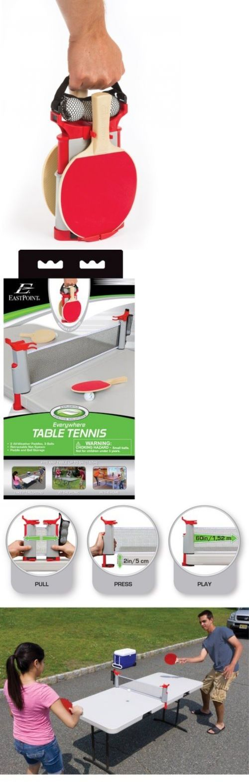 Sets 158955: Complete 2 Player Portable Table Tennis Set Pingpong 2 Paddle 3 Ball 5 Wide Net -> BUY IT NOW ONLY: $32 on eBay!