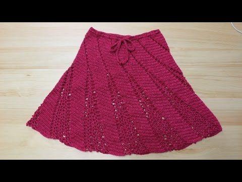 Paso a paso para tejer esta falda en cualquier medida muy fácil con 150 grs de hilo.