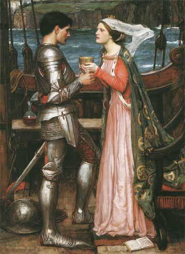 John William Waterhouse (1849 - 1917). Tristan and Isolde 1916