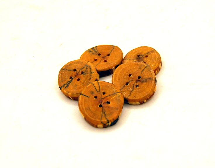 Set of 5 wooden buttons, Spalted birch wood, handmade buttons,Buttons of spalted wood,1 inch buttons,Branch buttons,Craft accessories  #4 by Scandicreations on Etsy