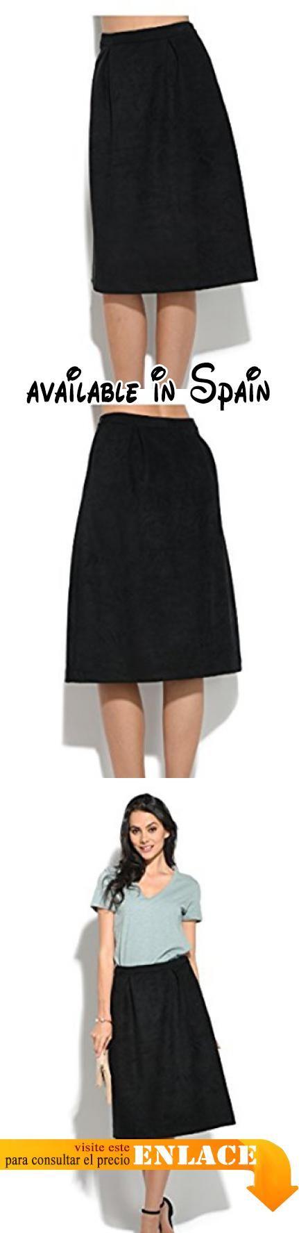 B075SKHLJP : Orfeo - Falda RITA - Mujer - S - Negro. Falda plisada en la cintura. Cierre con cremallera. 2 Bolsillos. Longitud 68cm