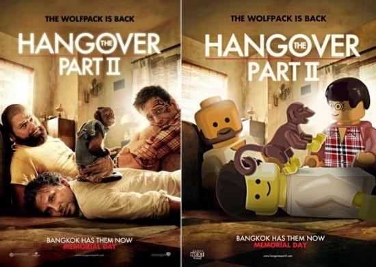 Poster de peliculas realizados en Lego