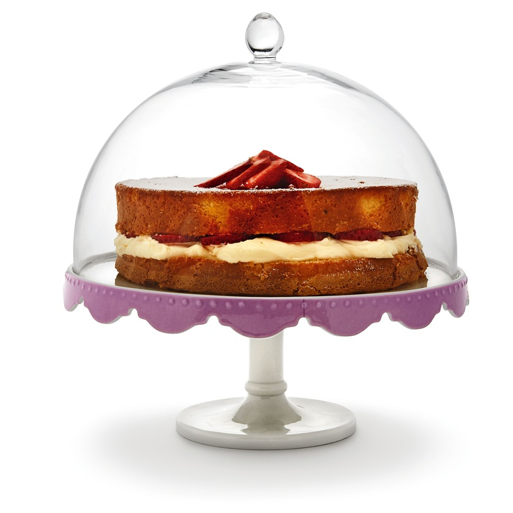 SaltandPepper Dream Footed Cake Plate/Dome from Domayne