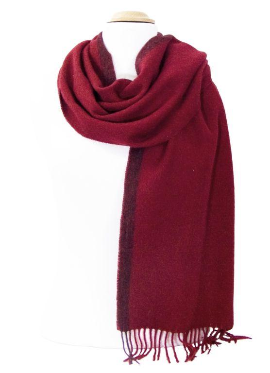 3e4d229dbe07 écharpe bordeaux laine avec rayure   mesecharpes.com   Pinterest