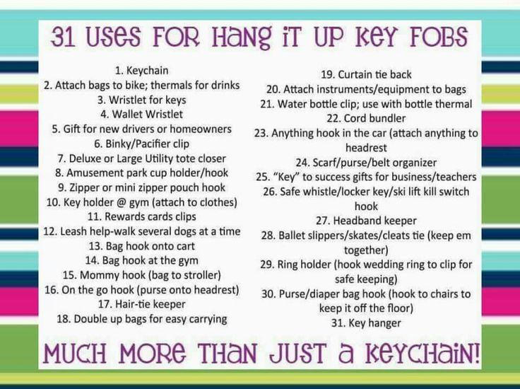 31 uses for hang it up key fobs