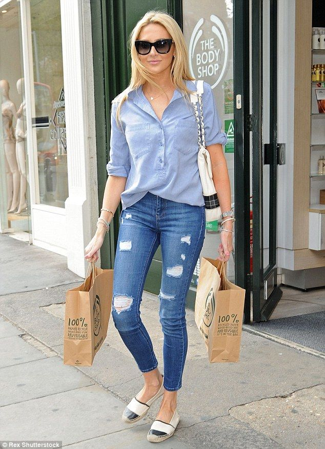 Retail therapy: The former The Hills star wore flat Chanel espadrilles and toted her belon...
