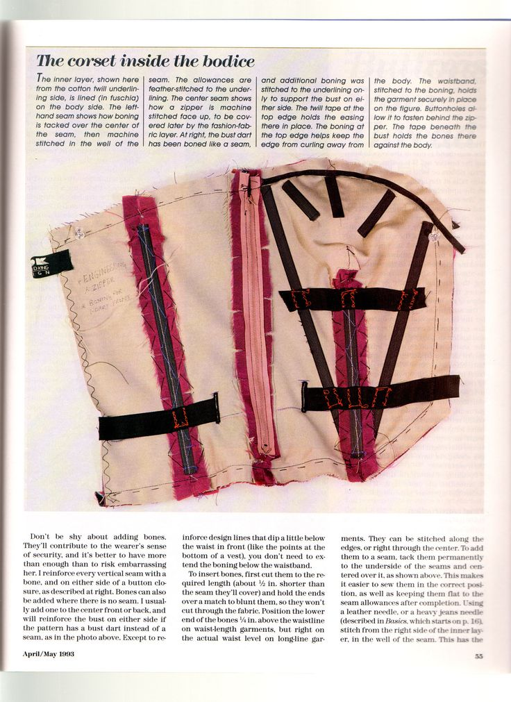 """A Strapless That Stays Put"" by Kenneth D. King Featured in Threads magazine, issue #46, pp. 52-56 ~~ page 4 of 5"