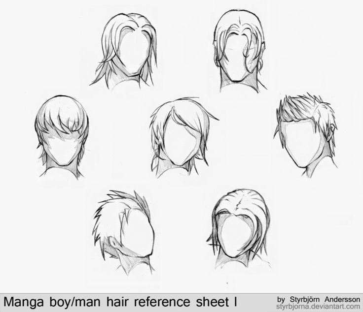 Manga boy/man hair reference sheet I by StyrbjornA on deviantART - 38 Best Anime Hair Images On Pinterest