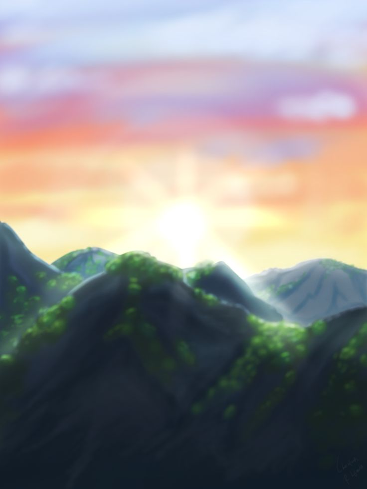 Landscape; drawing by ArtWolf