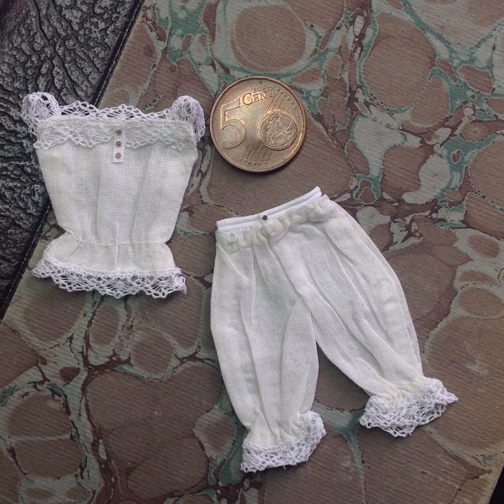 Miniature bloomers and camisole made from a tutorial by Amber's House