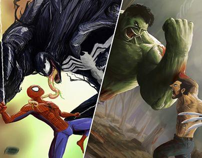 "Check out new work on my @Behance portfolio: ""Spiderman vs Venom / Hulk vs Wolverine Fanart"" http://be.net/gallery/52701413/Spiderman-vs-Venom-Hulk-vs-Wolverine-Fanart"