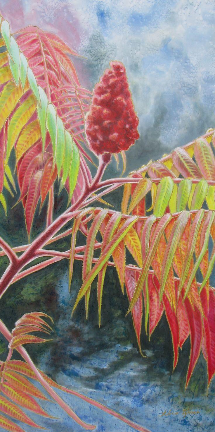 The 479 best silk painting flowers images on pinterest silk silk painting autumn dance by alena vyborna mightylinksfo