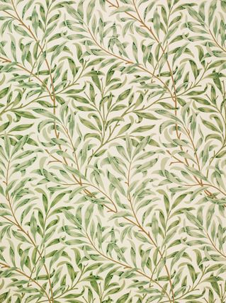 Willow Bough wallpaper, by William Morris (1834-96). Hand-printed. England, 1887.