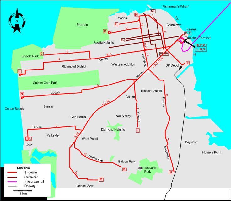 san francisco tram map pdf