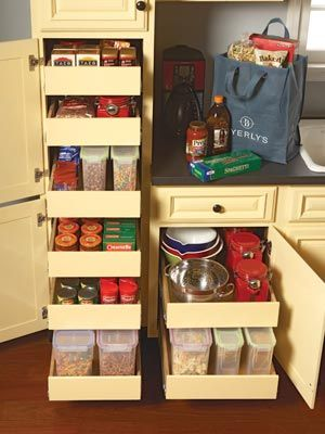 Wish My Kitchen Could Accomodate This System Kitchen Storage Cabinet Rollouts Add Rollouts To Your Kitchen Cabinets To Maximize Storage Space