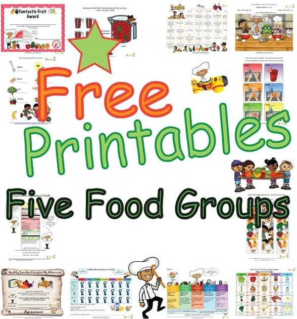 Fun+educational+sheets+to+help+children+learn+about+the+five+food+groups.+These+food+group+printables+have+easy+to+learn+basic+nutrition+facts+based+on+USDA+guidelines+and+promote+the+importance+of+all+five+food+groups.++Learning+sheets,+worksheets+and+fun+activity+pages+promote+healthy+messages+about+a+balanced+meal+made+of+foods+from+all+five+food+groups.++Chef+Solus+and+his+kid+characters+makes+learning+about+the+food+groups+fun.