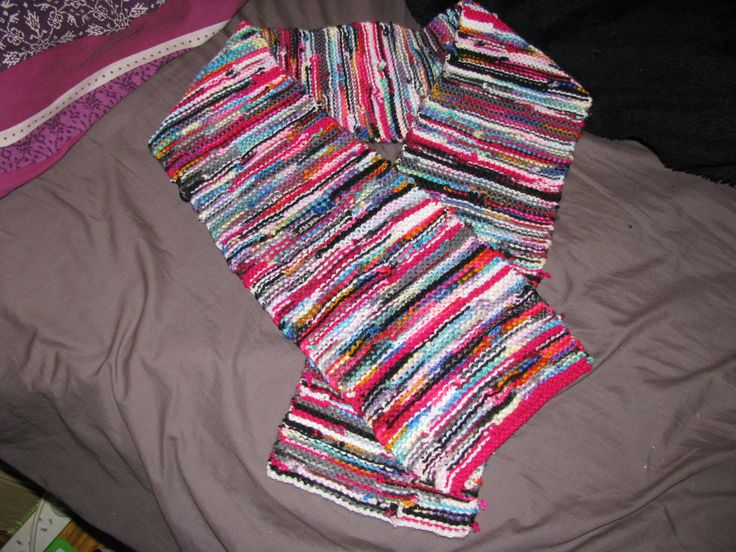 Another scarf made for a friend.  This one uses left over wool, to a create a chaotic, random look.