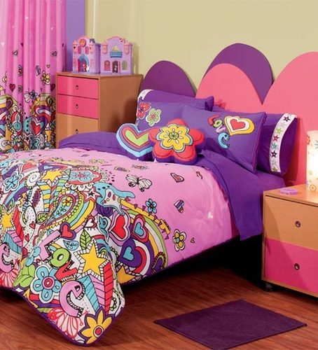 Pink And Purple Bedroom: Details About New Girl Teen Pink Purple Love Heart Guitar
