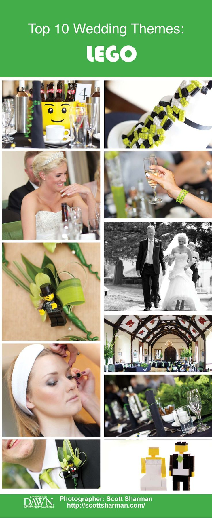 Top Unique Wedding Themes: LEGO Inspired
