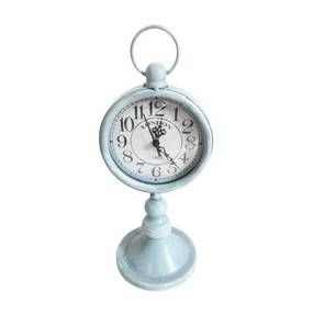 Duck-Egg Metal Clock on Stand