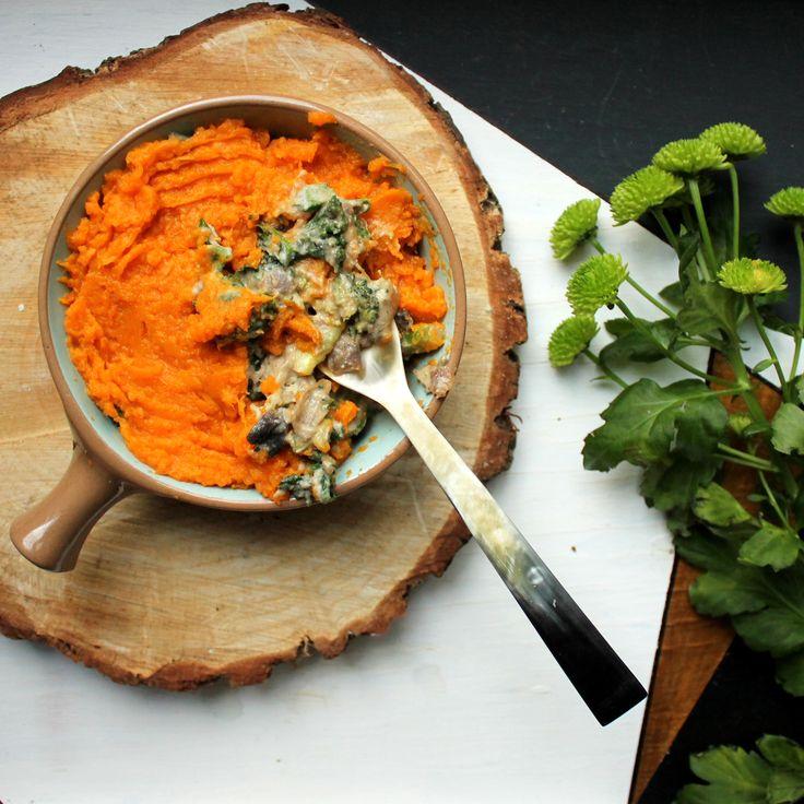 Vegan Gluten Free Creamy Mushroom Sweet Potato Pie