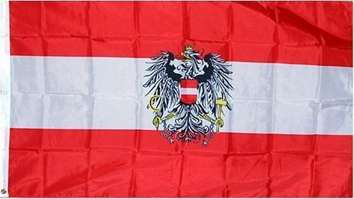 "Austria ""Crest"" National Country Flag - 3 foot by 5 foot Polyester (NEW) by Country Flags ""A-B"". $4.99. Express Domestic Shipping is OVERNITE 98% of the time, otherwise 2-day.. Express International Shipping is Global Express Mail (2-3 days). 3 Foot by 5 Foot, Indoor-Outdoor, Lightweight Polyester Flag with Sharp Vivd Colors. 2 Metal Grommets For Eash Mounting with Canvas Hem for long lasting strength. FAST SHIPPER: Ships in 1 Business Day; usually the Same Day ..."