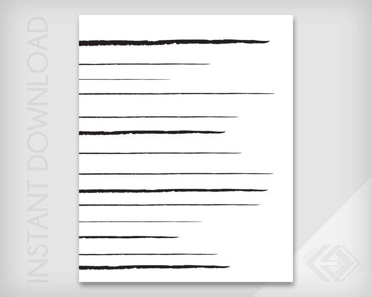 Horizontal Lines - Abstract Wall Art - JPG & PDF Instant Download - Modern Minimalist Digital Print by EastonDesign on Etsy