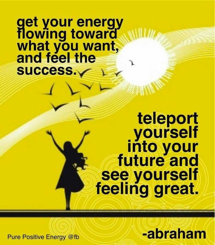 """Teleport"" yourself to today ... feel great today."