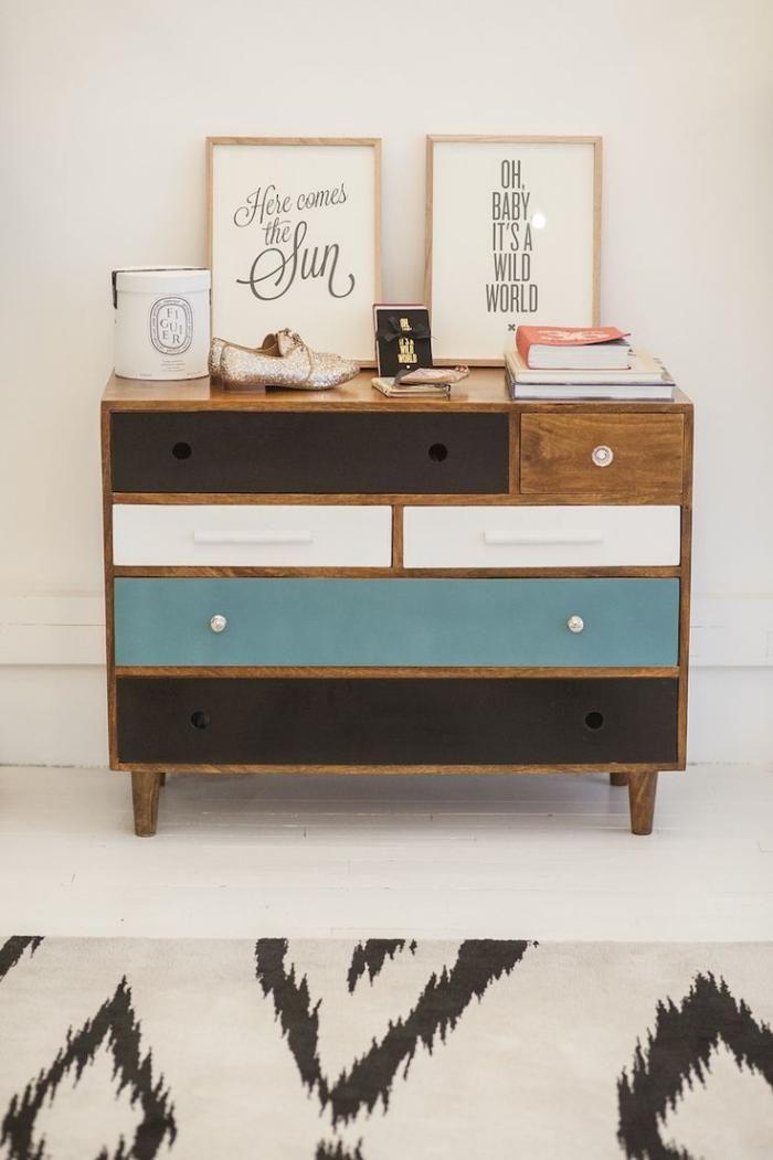 Les 25 meilleures id es concernant tiroirs peints sur for Relooker des meubles