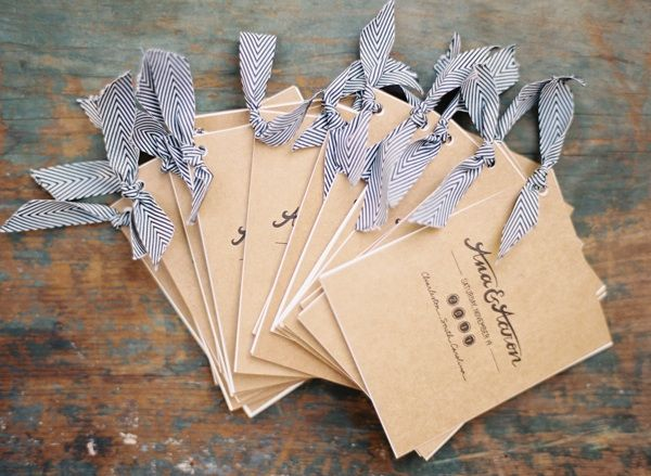 kraft paper wedding programs