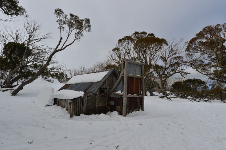 100+ Year old Wallace hut  (cattleman's Hut) Falls Creek Australiawww.australianphotos.com.au