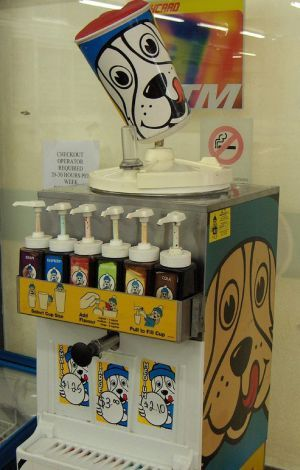 Slush Puppies!  Loved these as a kid, putting more pumps of syrup then really needed