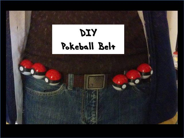 DIY Pokeball Belt Tutorial - Imgur  Simple and straightforward!