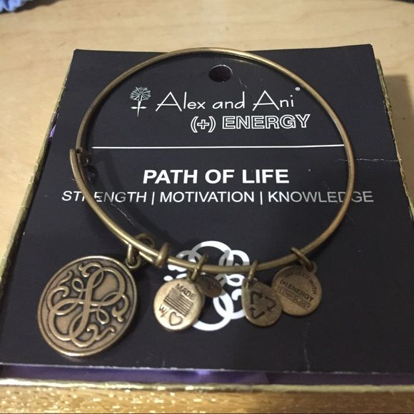 Gold Path of Life Bracelet Gold Alex and Ani expandable path of life bracelet. Comes with meaning card. Alex & Ani Jewelry Bracelets