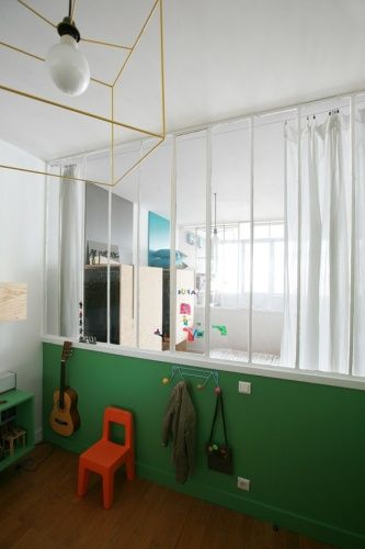 interesting cloison vitre chambre enfant with separer une piece en deux sans percer. Black Bedroom Furniture Sets. Home Design Ideas