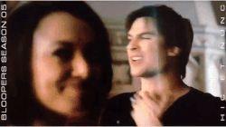 #TVD The Vampire Diaries behind the scenes  Kat Graham(Bonnie) & Ian Somerhalder(Damon)