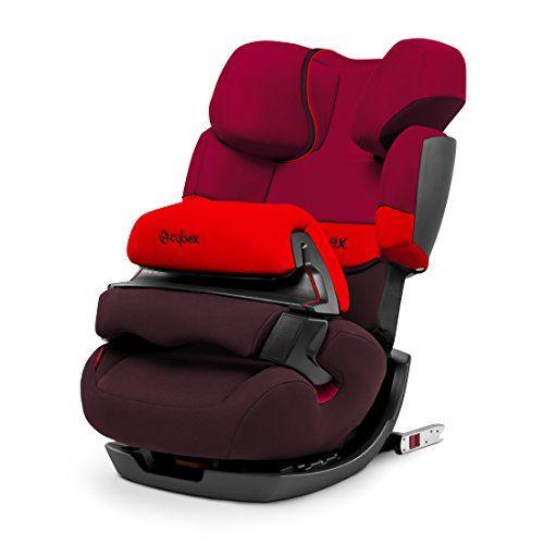 Cybex Pallas Fix - Silla de coche Grupo 1/2/3 (9-36 kg, 9 meses-12 años) con Isofix, color rojo