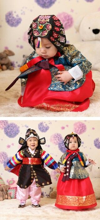 .little cuties in their hanboks.