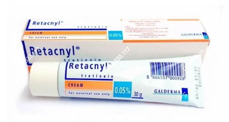 Kem đặc Trị Mụn Retacnyl Tretinoin Cream 0 05 Galderma Chinh Hang Phap Trị Mụn Xa Phong Cạo Rau