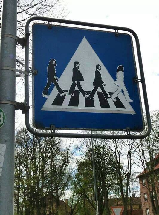 Beatles, Abbey Road crossing sign.